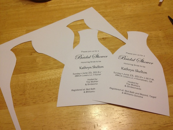 How To DIY Bridal Shower Invitations We Tie The Knots We Tie