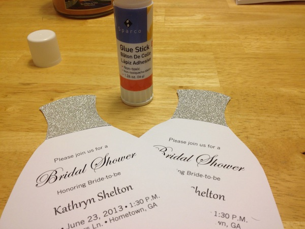 How To DIY Bridal Shower Invitations We Tie The Knots We Tie – Wedding Dress Shower Invitations
