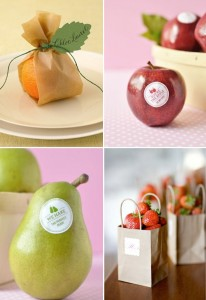 Fruit Wedding favors